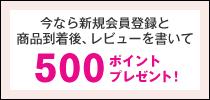 今なら新規会員登録で500ポイントプレゼント!